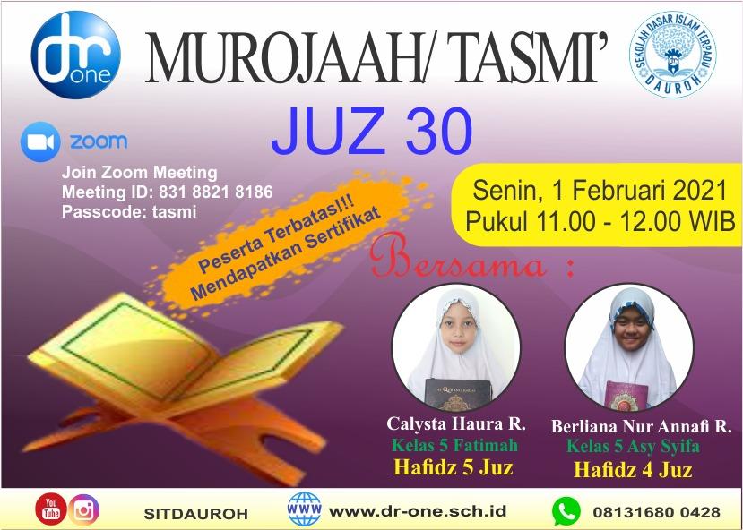 image Tasmi Al Qur'an Bersama Siswa-siswi SDIT Dauroh